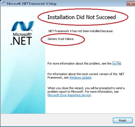 Salesforce for Outlook install fails with .NET Framework 4